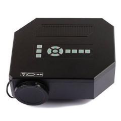 Mini Projetor Uc30 Led Av Sd Usb Vga Micro Usb Preto